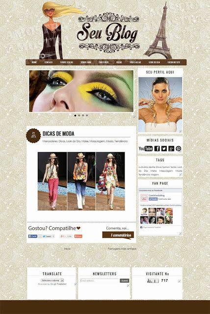 LAYOUT FEMININO Á VENDA - Cantinho do blog Layouts e Templates para Blogger