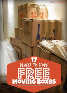 A great list of places where you can score FREE Moving boxes! Talk about making your DIY moving a little more affordable. Thankful for these tips.