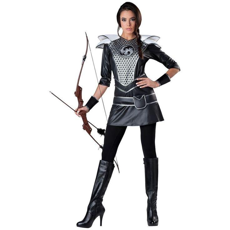 KATNISS EVERDEEN Costume Mockingjay Hunger Games MIDNIGHT Adult Girls Women #Costume