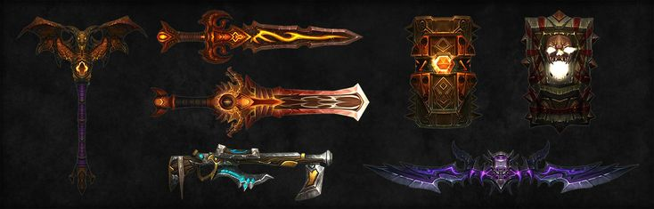 ArtStation - World of Warcraft : Weapons, Kevin Lee