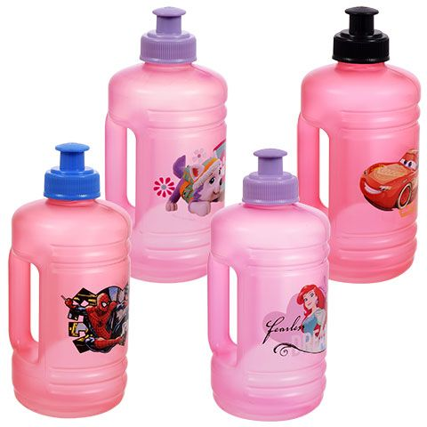 Licensed Plastic Jugs with Pull-Top Spouts, 16 oz.