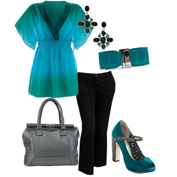 """Plus Size Business Casual"" by elise1114 on Polyvore"