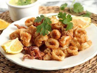 Resep cara membuat cumi goreng calamari http://resepjuna.blogspot.com/2016/06/resep-cumi-goreng-tepung.html masakan indonesia