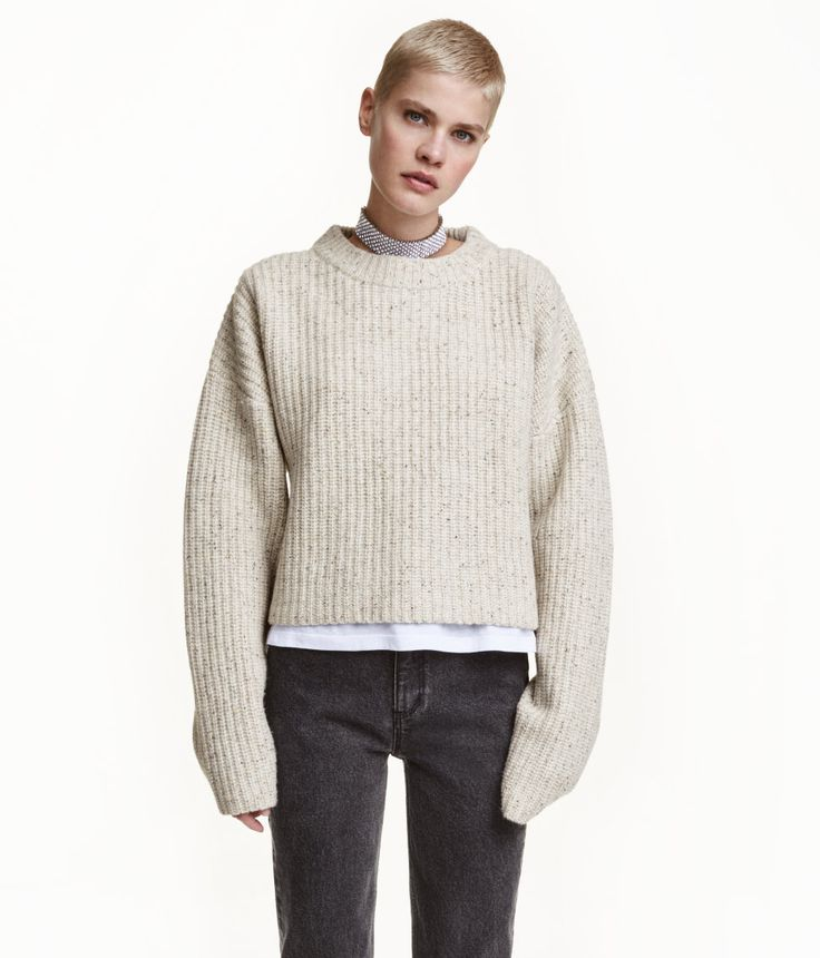 Chunky-knit Wool Sweater | Warm in H&M