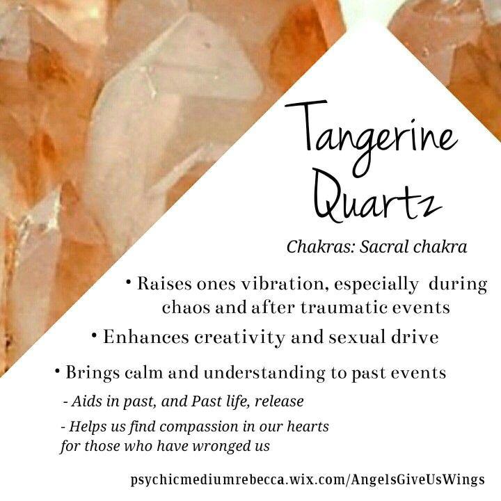Tangerine Quartz crystal meaning