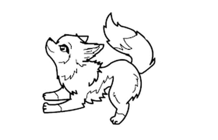 Anime Wolf Coloring Pages In 2020 Cute Wolf Drawings Animal Templates Cartoon Coloring Pages