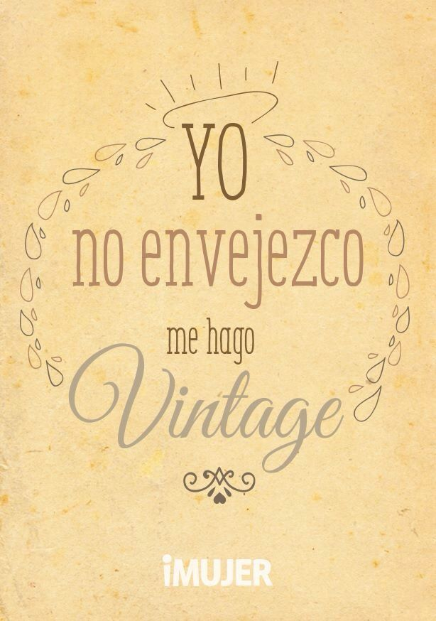 Me pongo vintage!