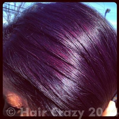 How to achieve eggplant hair using Pravana Violet..? - Forums - HairCrazy.com