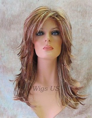 Long-Wig-Choppy-Layers-Lots-of-Motion-3-tone-Auburn-Strawberry-Blond-Womens-wigs