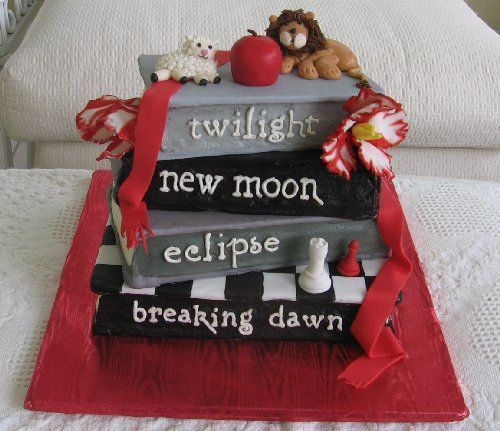 Twilight Saga Cake: Twilight Parties, Cakes Ideas, Theme Cakes, Awesome Cakes, Books Cakes, Twilight Saga, Twilight Cakes, Twilight Series, Birthday Cakes