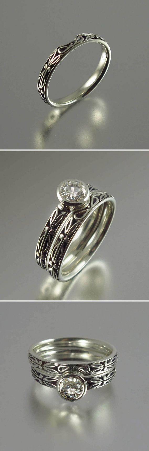 AUGUSTA 044ct Diamond 14K gold engagement ring by WingedLion, $1925.00
