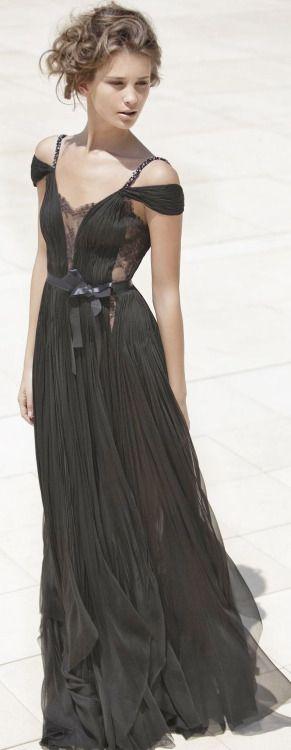 Black gown = BRIDESMAID DRESS