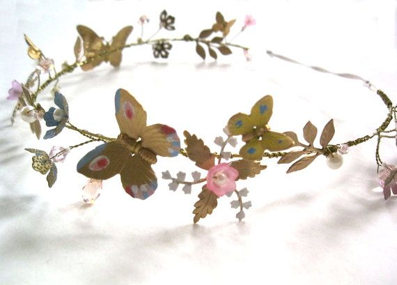 Ella spring halo headband bride brass gold pearl by icing101 https://www.etsy.com/listing/229006435/ella-spring-halo-headband-bride-brass?ref=shop_home_active_1
