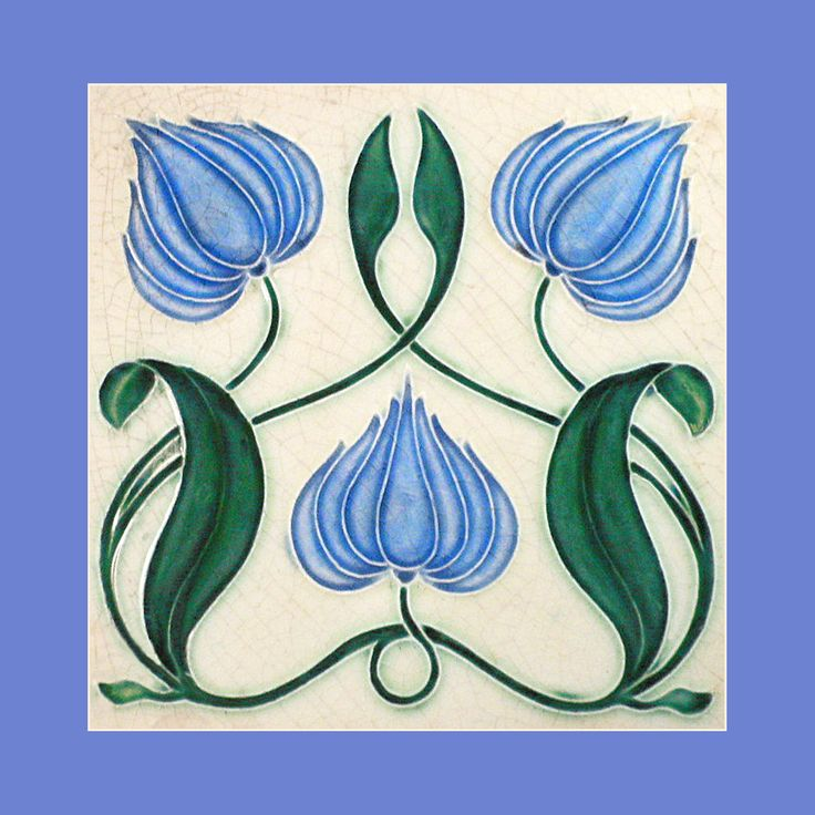 """26 Original Art Nouveau tile by Corn Brothers (1903). Courtesy of Robert Smith from his book """"Art Nouveau Tiles with Style"""". Image enhancement by streets-of-barcelona.com.                                                                                                                                                     More"""