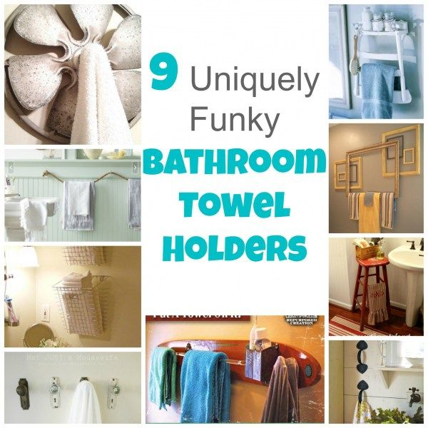 9 Uniquely Funky Bathroom Towel Holders