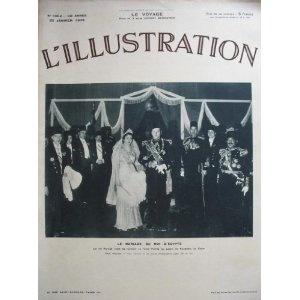 L'Illustration - n°4952 - 29/01/1938 - Le mariage du roi d'Egypte Farouk et Farida [magazine mis en vente par Presse-Mémoire]