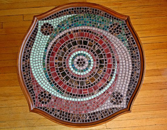 Spiral Mosaic Coffee Table by Fragmentalist on Etsy