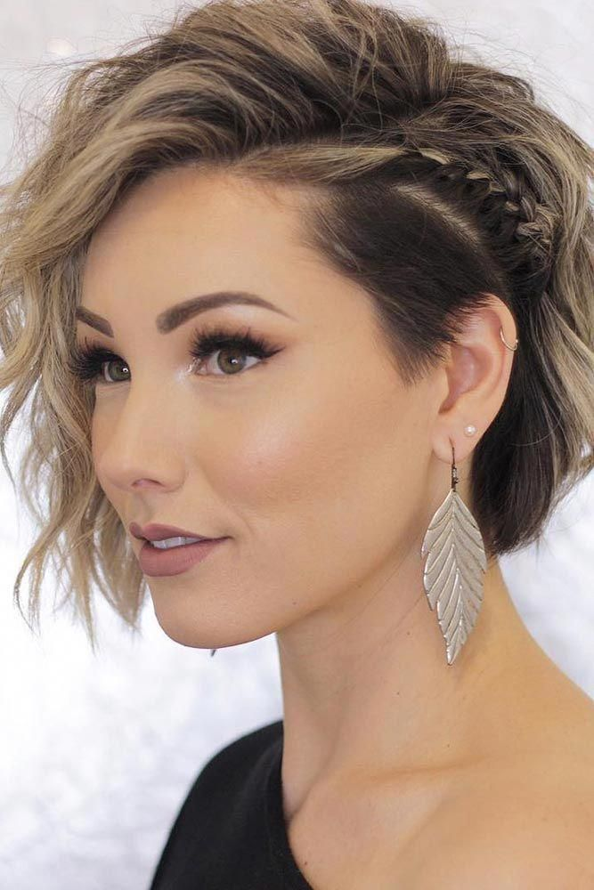 Tine Side Braid For Undercut Bob ❤ Pick one of the best short hairstyles for your next hairdo! ❤ #lovehairstyles #hair #hairstyles #shorthair