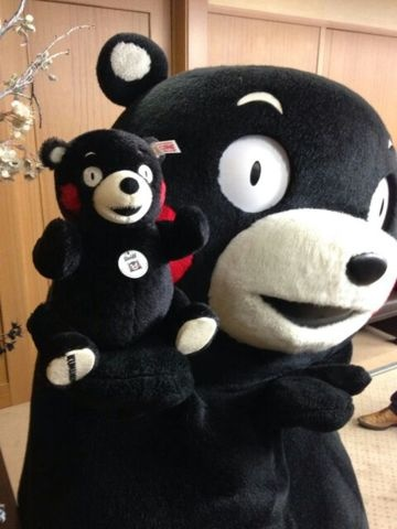 Kumamon with his Mini-me!