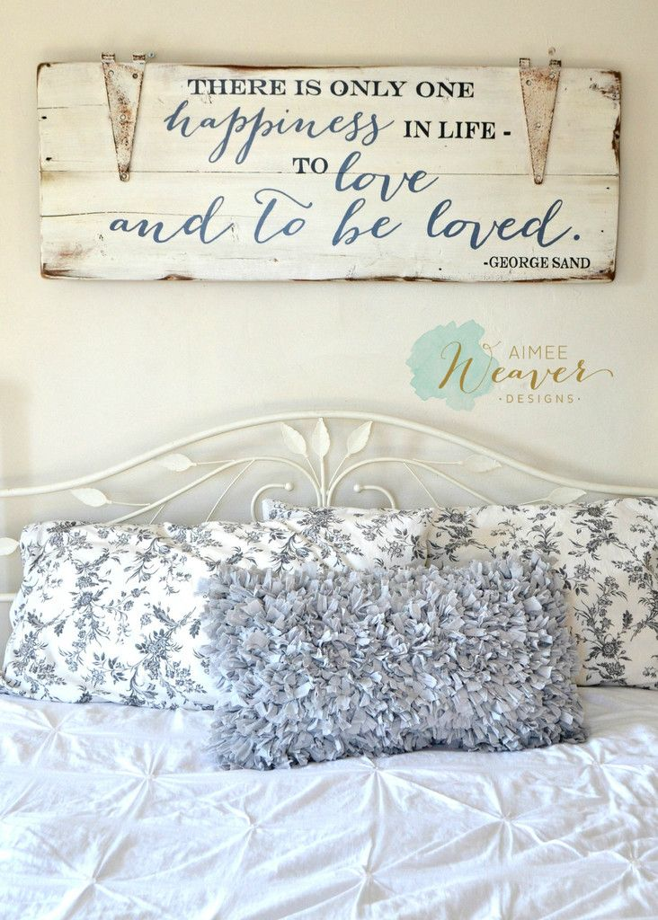 """""""To love and to be loved"""" Wood Sign {customizable} - Aimee Weaver Designs, LLC"""