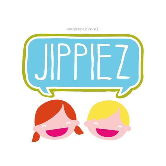 Logo design for Jippiez (children products webshop) by http://ankepanke.nl
