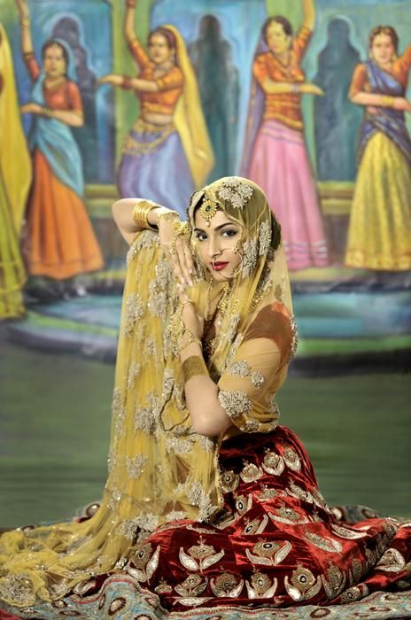 Sonam Kapoor in a fashion editorial inspired by vintage Bollywood