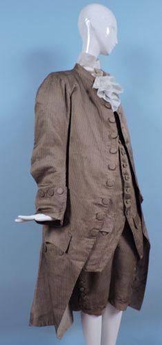 редкая C 1770 's 18 C мужской 3 шт в полоску шелк суд костюм in Одежда, обувь и аксессуары, Винтаж, Винтажная одежда для мужчин, До 1930 г. (Викторианская эпоха, 20-е гг.) | eBay