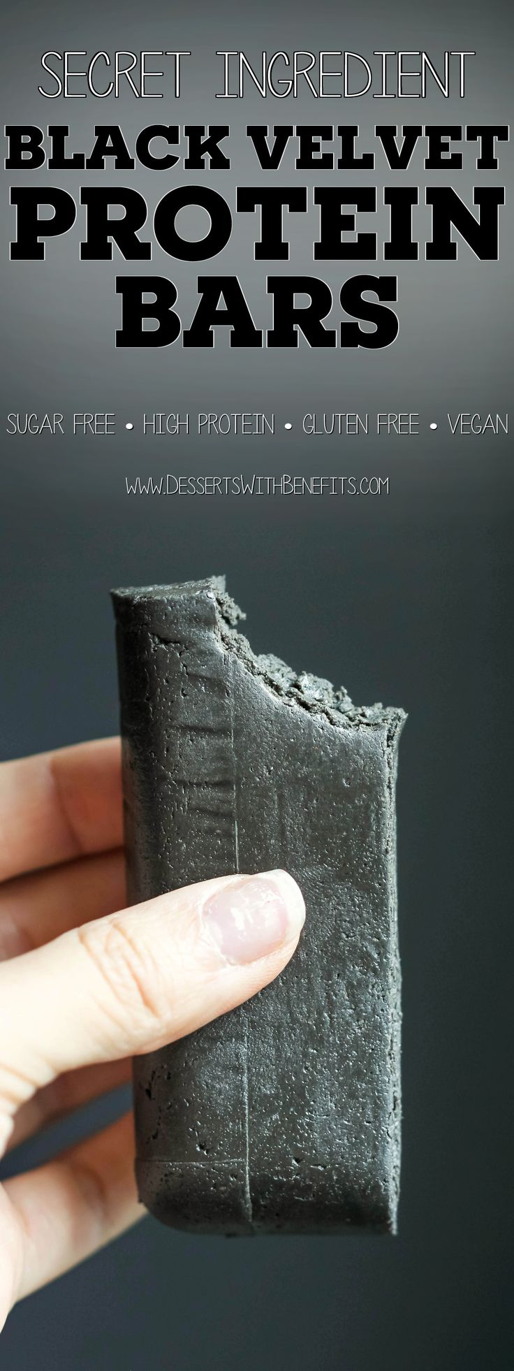 These Healthy Black Velvet DIY Protein Bars are the perfect snack for when you're wanting something sweet and chocolatey, but without the excess calories, fat, and refined sugar. With only 7 ingredients and no baking required, these homemade protein bars