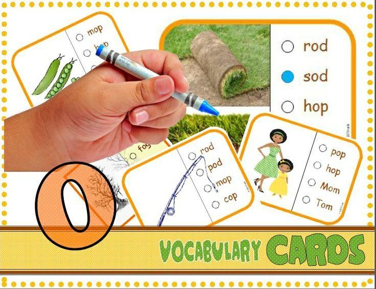 "CVC Vocabulary Cards (Short ""O"").  Common Core: RF.K.2d"