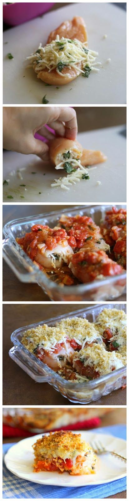 When one thinks of chicken parmesan, the usual image is of a breaded chicken cutlet fried and baked in the…