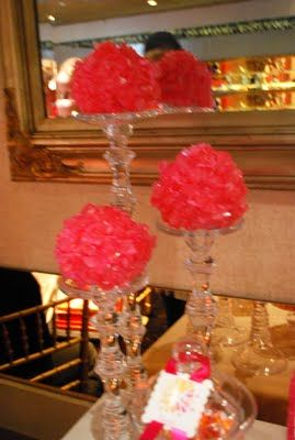 Rock candy topiary. pink rock candy for Hannah's rock star party