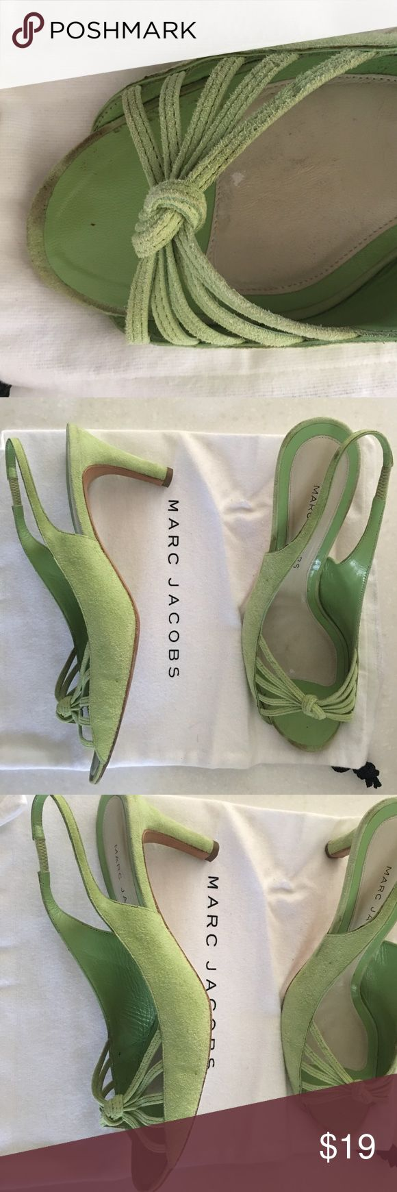 arc jacobs pastel green sandals. Marc jacobs pastel green sandals. Sz41 gently worn-could use suede cleaner-see photos 2.75 heel felt bag and box Marc Jacobs Shoes Sandals