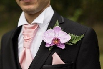 boutonnière orchidée