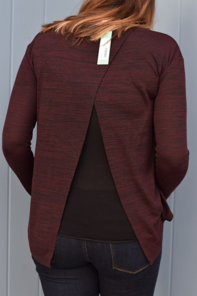 RD Style Keira Crew Neck Split Back Knit Top #stitchfix #review #budget