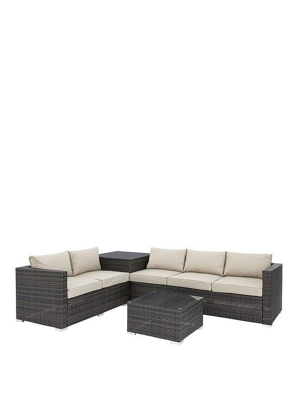 Fine Coral Bay 5 Seater Corner Garden Sofa With Storage And Table Lamtechconsult Wood Chair Design Ideas Lamtechconsultcom