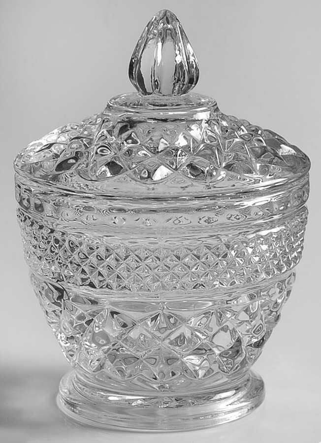 Wexford By Anchor Hocking Pressed Glass Footed Sugar Bowl