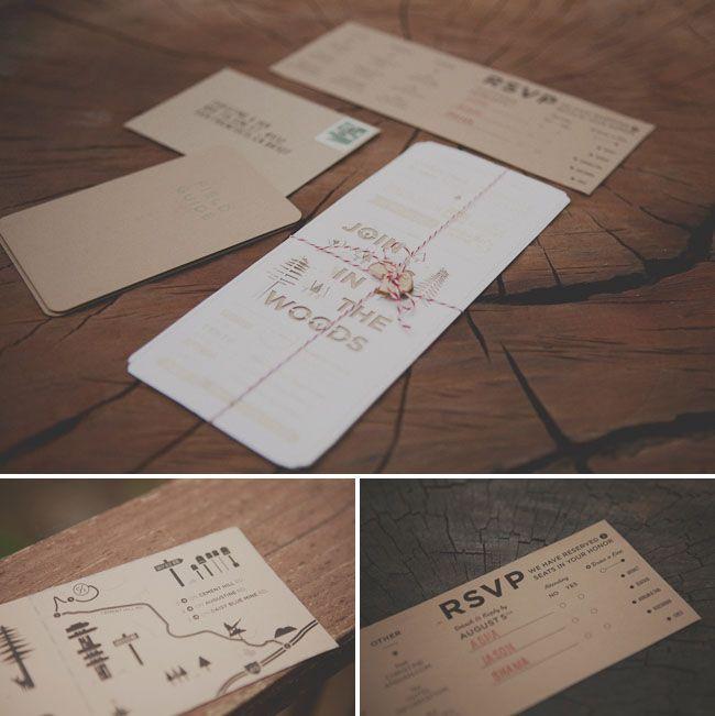 Join us...: Airline Ticket, Ideas, Kraft Paper, Wood Wedding Invitations, Woodsy Wedding, Rustic Invitations, Cards, Rustic Wedding Invitations, Handmade Wedding Invitations