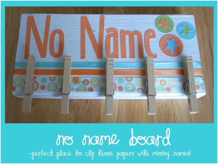 No Name Board  First Grade Fanatics