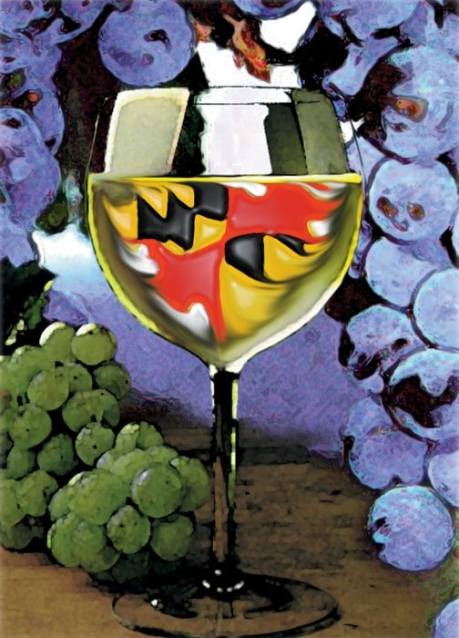 Maryland Wine Digital Art
