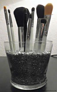brush holder beads. 2.50 diy make up brush holder beads