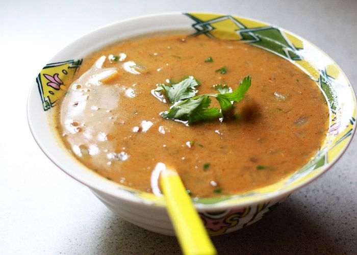 Thai Green Curry Lentil Soup | kitchentreaty.com - green curry paste, coconut milk, fresh ginger