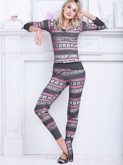 The Fireside Long Jane Pajama. Victoria's Secret. Small