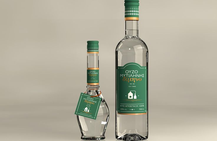 """Ouzo Dimino Mitilinis - EVA Distillery: The heart of the ouzo distillate of """"Dimino"""" matures for two months contributing to its unique flavour for the ultimate enjoyment. Every drop that reaches the palate captures the right amounts of seed and herbs aromas mainly grown on Lesvos Island."""