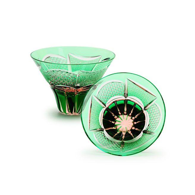 江戸切子の店 華硝 プレミアムアイテム 三角盃