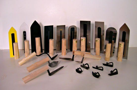 Plaster Tools: Japanese Trowels
