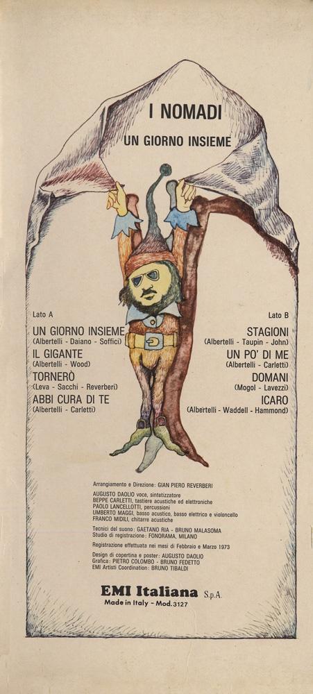 Augusto Daolio 1973 I Nomadi - Un Giorno Insieme [EMI] #inlay #fantasy #Prog-Rock