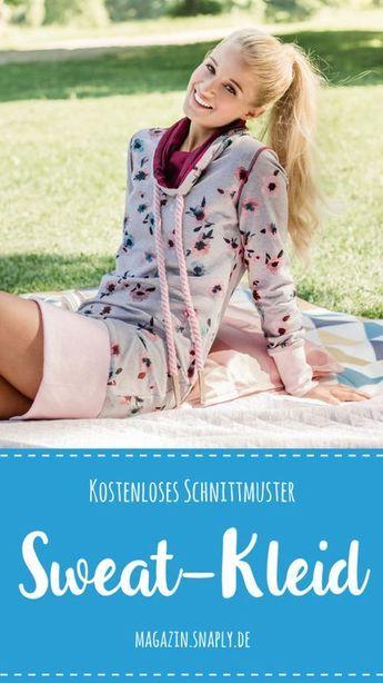Kostenloses Schnittmuster: Sweat-Kleid