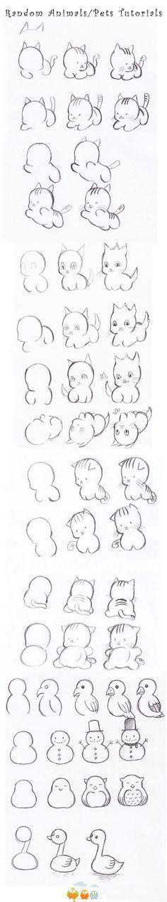 des animaux trop chou à dessiner