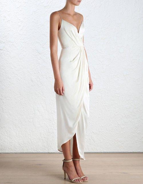 25  best ideas about White silk dress on Pinterest   Simple white ...