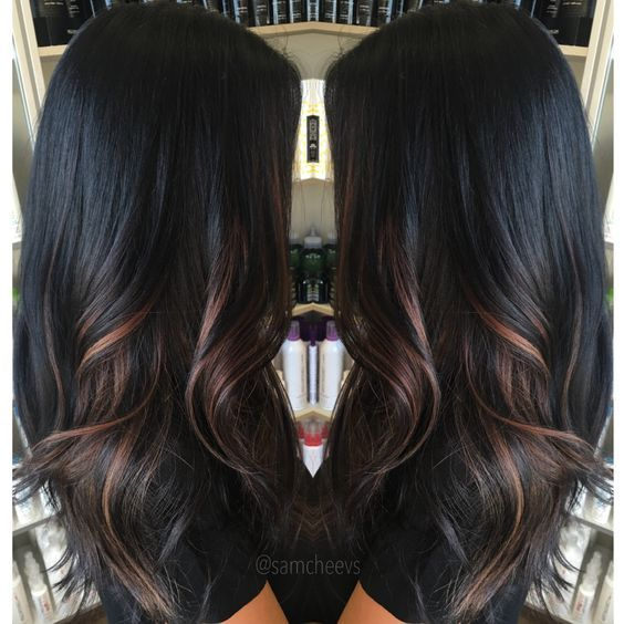 ombre styles for dark hair wonderful highlights for hair in 2019 hair ideas 2555 | 74e647be70e11a8612054c508e95a6cd balayage dark hair highlights for black hair